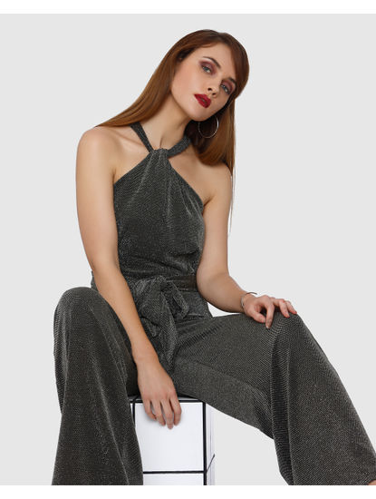 Black Shimmer Jumpsuit