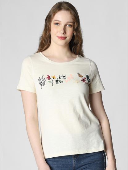 Off White Graphic Print T-shirt