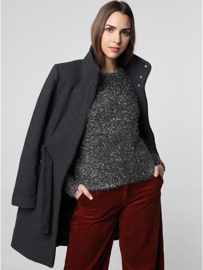 Black Shimmer Pullover