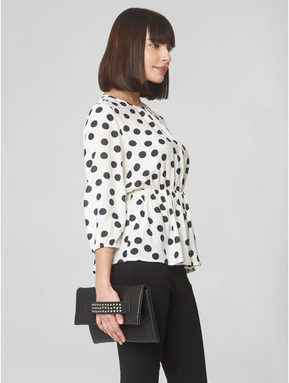 Off-White Polka Dot Top