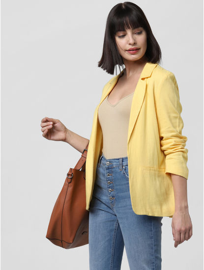 Yellow Loose Blazer
