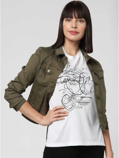 White Scribbled Print T-shirt