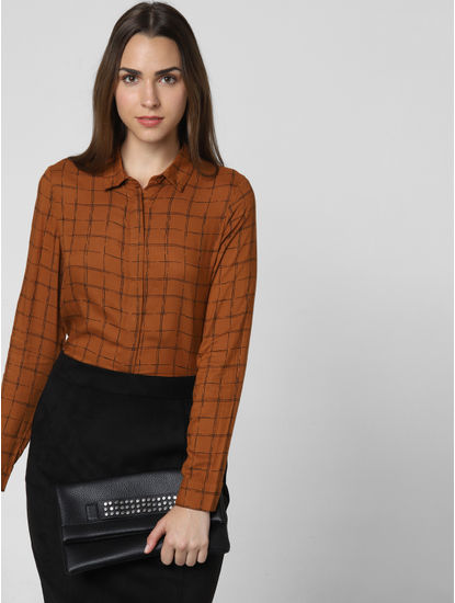 Brown Check Shirt