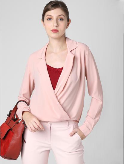 Pink Boxy Asymmetric Shirt