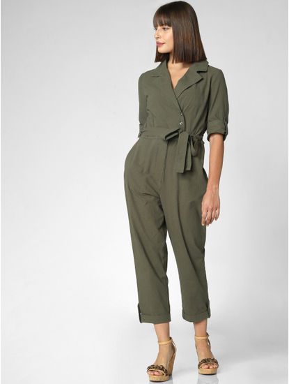 Green Belted Jumpsuit