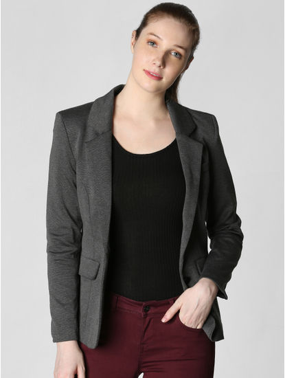Dark Grey Formal Blazer