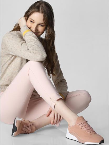 Pink Pu Sneakers