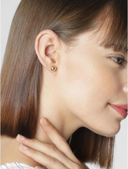Golden Set Of 3 Earrings