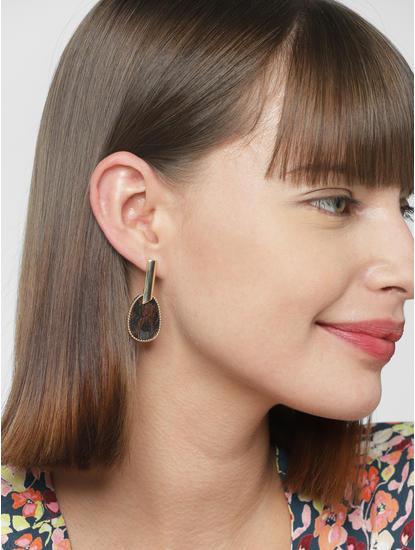 Golden Teardrop Earrings