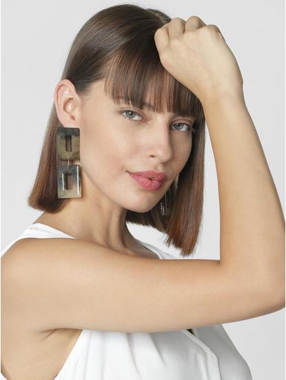 Golden Square Shaper Earrings