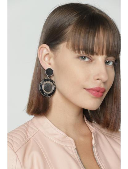 Black Embellished Earrings