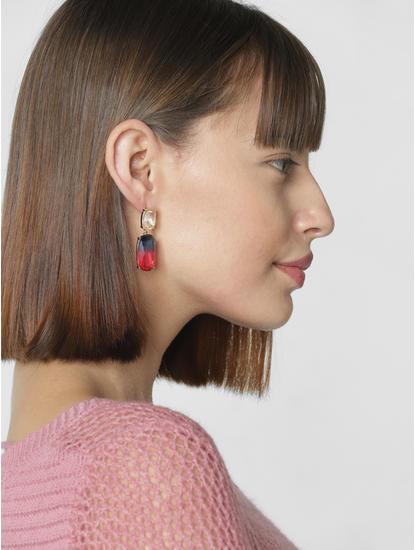 Golden Multi-Stone Earrings