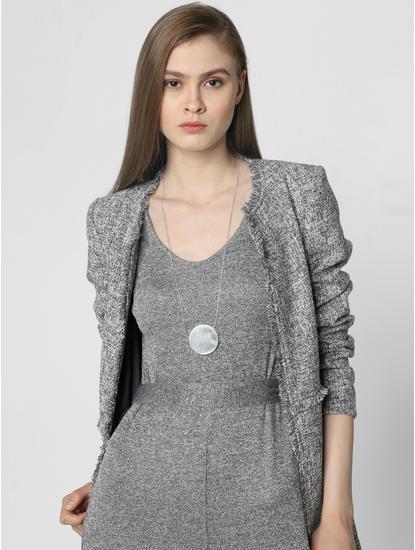 Silver Flat Pendant Necklace
