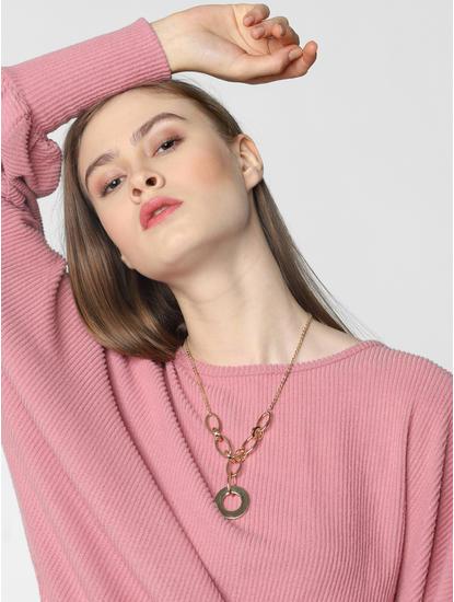 Golden Loop Pendant Necklace