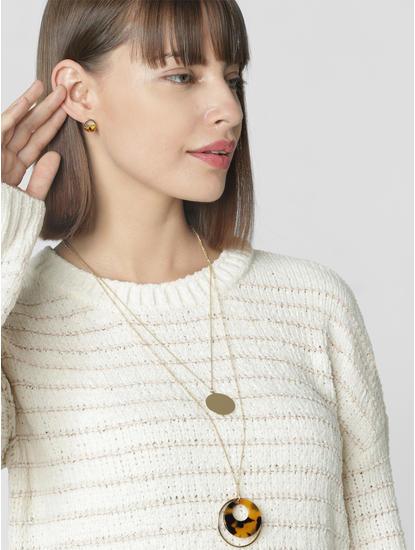 Golden Layered Necklace Set