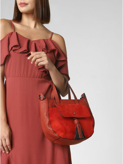 Red Tassel Detail Bag