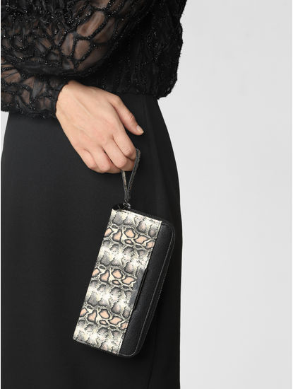 Black Animal Print Wallet