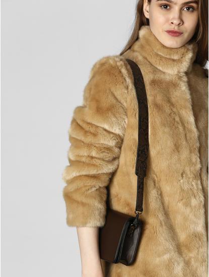 Brown Animal Print Strap Sling Bag