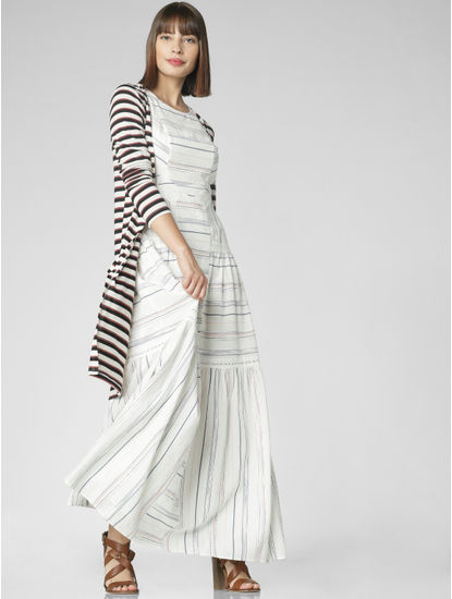 White Striped Maxi Dress