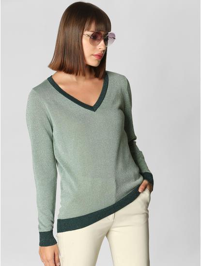Green Shimmer Pullover