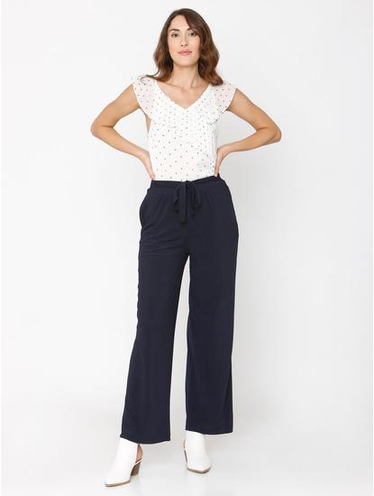 Navy Blue Drawstring Pants