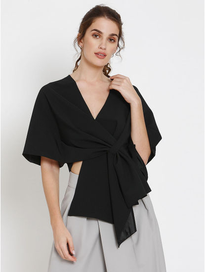 Black Cover Up Cape Top