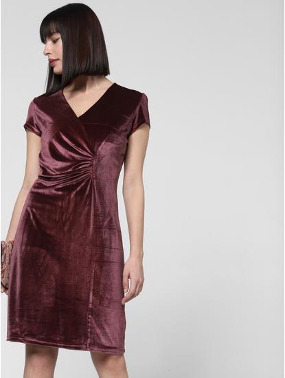 Burgundy Shift Dress