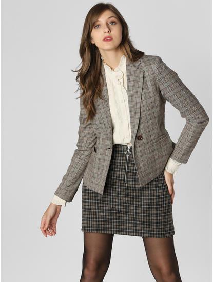 Grey Check Formal Blazer