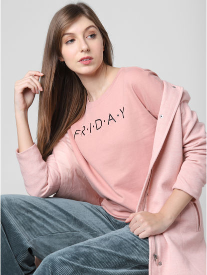 Pink Friday Print Sweatshirt