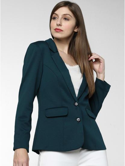 Green Double Button Blazer