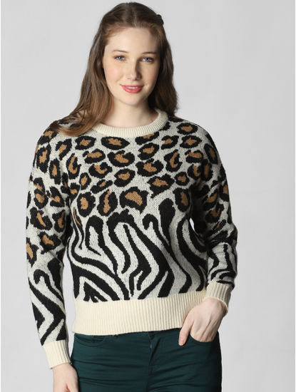 Off-White Animal Print Pullover
