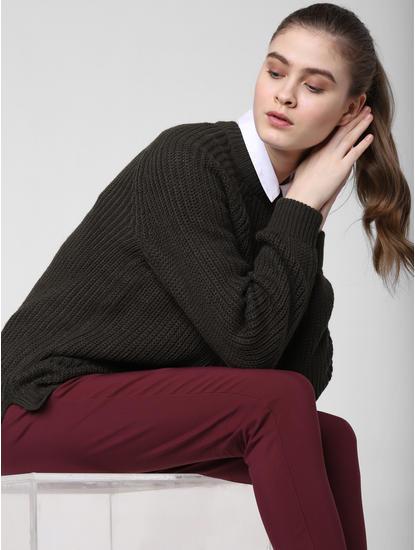 Dark Olive Pullover