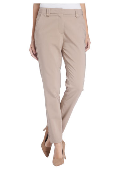 Grey Ankle Length Pants