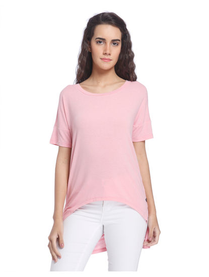 Light Pink Asymmetric Solid Top
