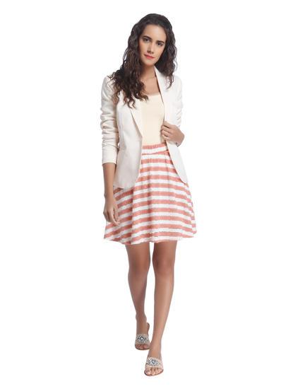 White Striped Skirt