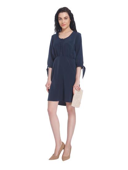 Dark Navy Blue Mini Dress
