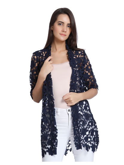 Blue Lace Loose Blazer