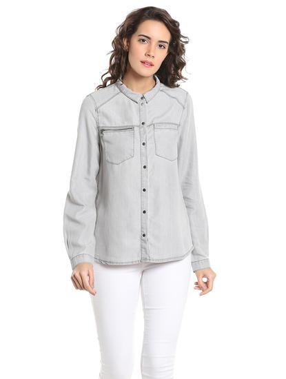 Light Grey Denim Shirt