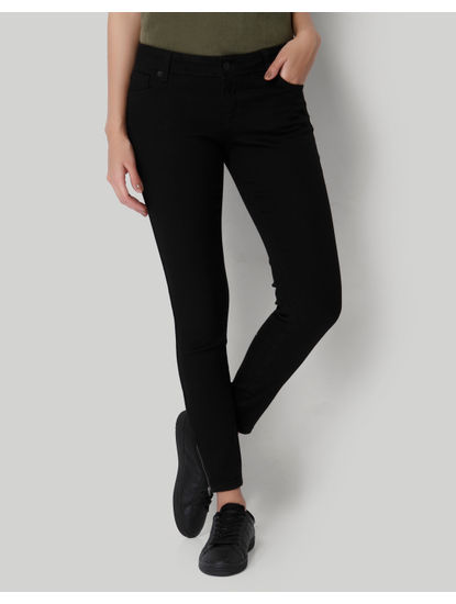 Black Slim Fit Ankle Length Jeans