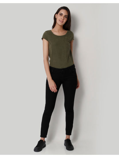 Black Slim Fit Ankle Length Jeans
