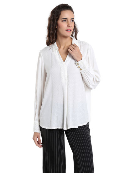 White Long Sleeves Shirt