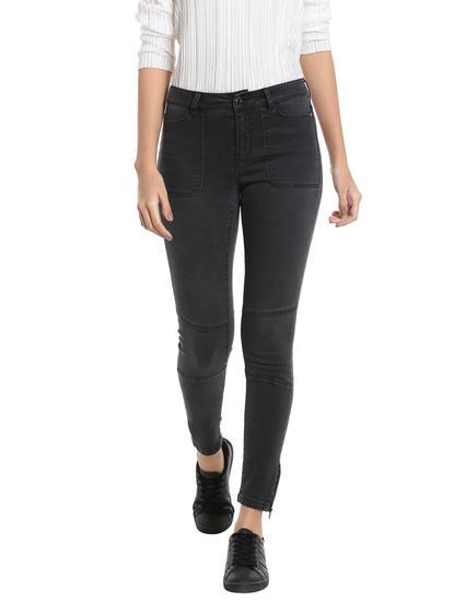 Black Biker Slim Jeans