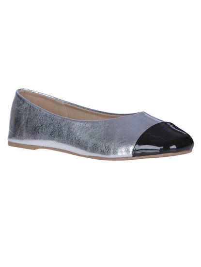 Silver And Black Ballerinas