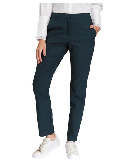 Dark Green Regular Waist Tapered Pants