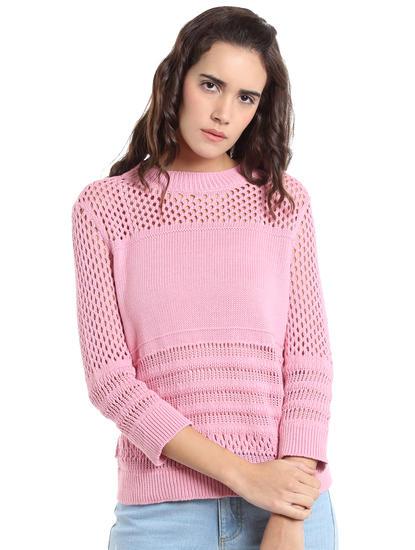 Pink Knit T-Shirt