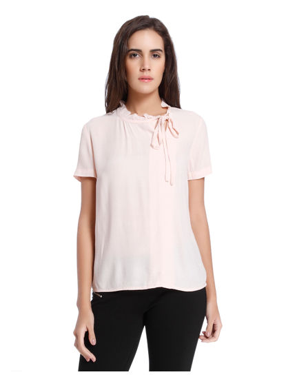 Peach Boxy Top