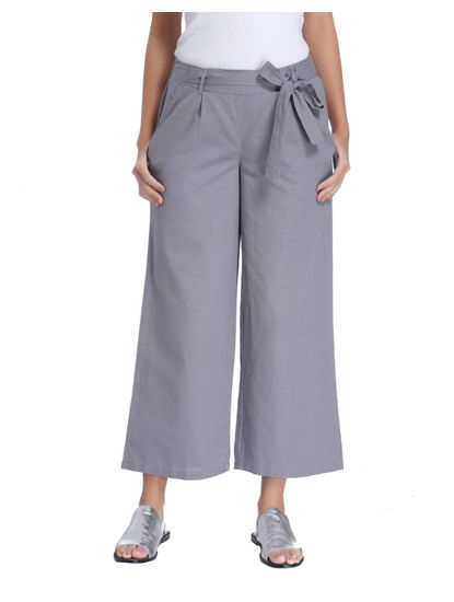 Grey Ankle Length Pant