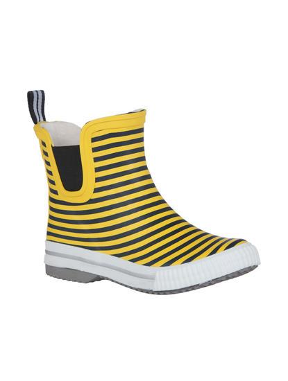Yellow Striped Rain Boots