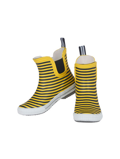 Yellow Striped Rain Boots
