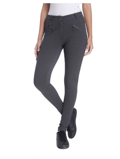 Dark Grey Pants with Zip Detail